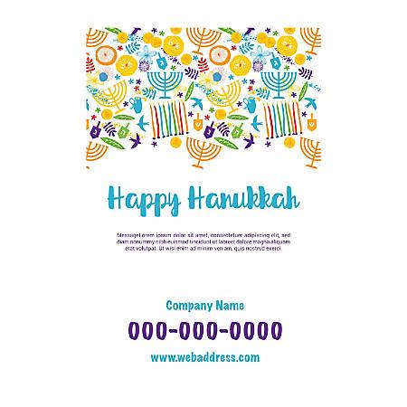 Adhesive Sign Template, Vertical, Hanukkah Art