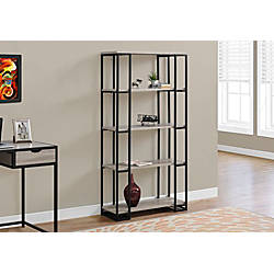 Monarch Specialties 4 Shelf Contemporary Metal