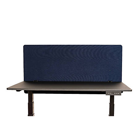 "Luxor RECLAIM Acoustic Privacy Desk Panels, 48""W, Starlight Blue"