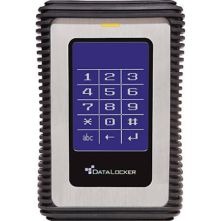 DataLocker DL3 1TB External Hard Drive With RFID Authentication, 8MB Cache, USB 3.0, Black/Blue/Silver