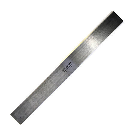 """Pacific Arc Stainless-Steel Straight Edge Drafting Scale, 18"""" x 2"""" x 1/8"""""""