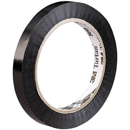 3M 860 Strapping Tape, 120 Yd., Black, Pack Of 12