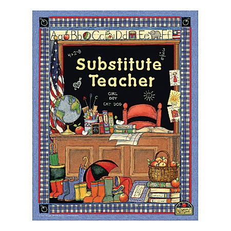 Teacher Created Resources Susan Winget Substitute Teacher Pocket Folders, Pack Of 10