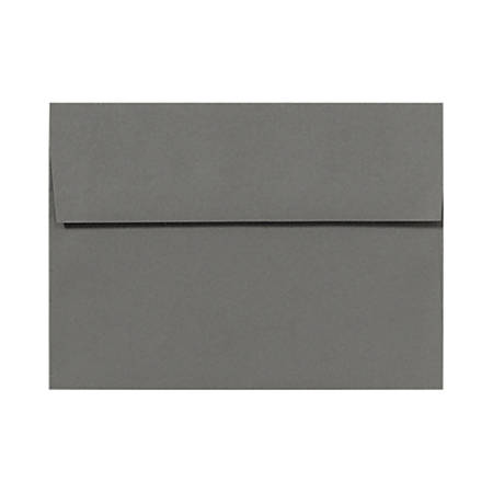 """LUX Invitation Envelopes With Peel & Press Closure, A7, 5 1/4"""" x 7 1/4"""", Smoke Gray, Pack Of 500"""