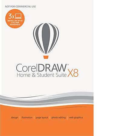 Corel CorelDRAW® X8 Home & Student Graphic Design Suite, Download