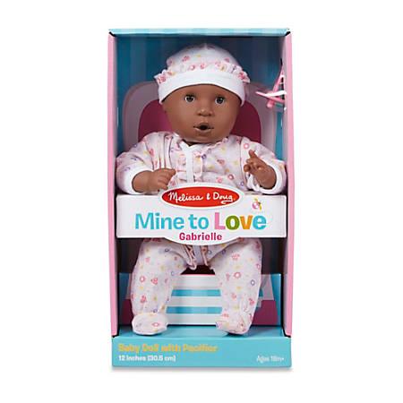 "Melissa & Doug Children's Educational Toys, Mine To Love Gabrielle Doll, 12"""