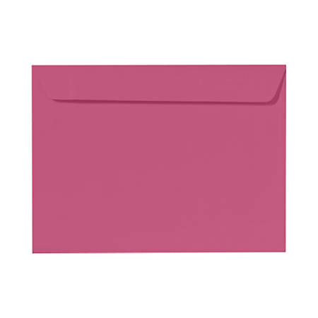 "LUX Booklet Envelopes With Moisture Closure, #9 1/2, 9"" x 12"", Magenta Pink, Pack Of 250"