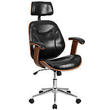 Flash Furniture Leather High Back Swivel