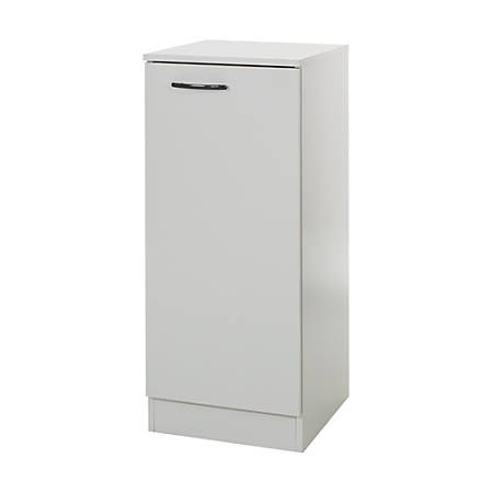 South Shore Axess Narrow Storage Cabinet, 2 Shelves, Soft Gray