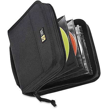 Case Logic® Nylon CD Wallet, 32 Capacity, Black