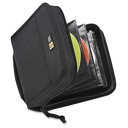 Case Logic® Nylon CD Wallet, 32 Capacity, Black