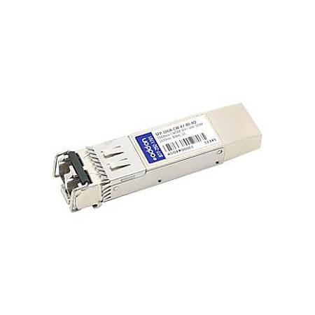 AddOn MSA and TAA Compliant 10GBase-CWDM SFP+ Transceiver (SMF, 1470nm, 80km, LC, DOM)