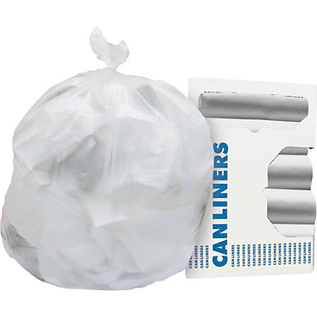 """Heritage AccuFit Round Can Liners - 44 gal - 37"""" Width x 50"""" Length x 0.63 mil (16 Micron) Thickness - High Density - Natural - 250/Carton - Can, Waste Disposal"""