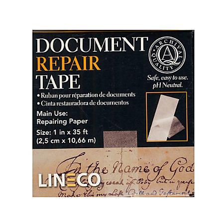 "Lineco Document Repair Tape, 1"" x 420"", Pack Of 2"