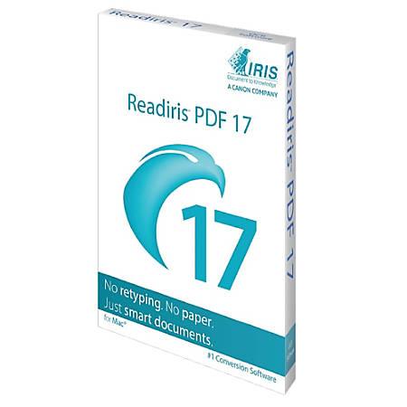 Readiris PDF 17-1lic OCR/PDF Mac