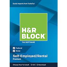 H R Block Premium 2018 Self