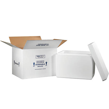 """Office Depot® Brand Insulated Shipping Kit, 15 1/2""""H x 15 1/2""""W x 21 1/4""""D, White"""