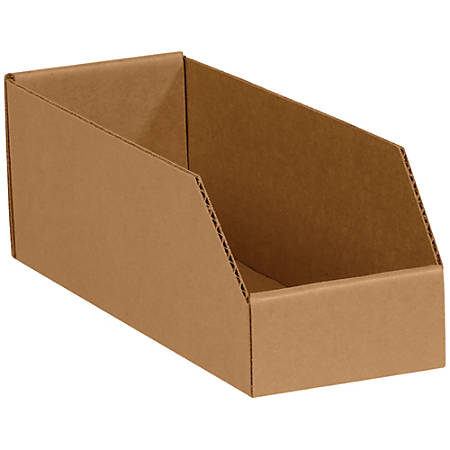 "Office Depot® Brand Open-Top Bin Boxes, 4 1/2""H x 12""W x 3""D, Kraft, Pack Of 50"