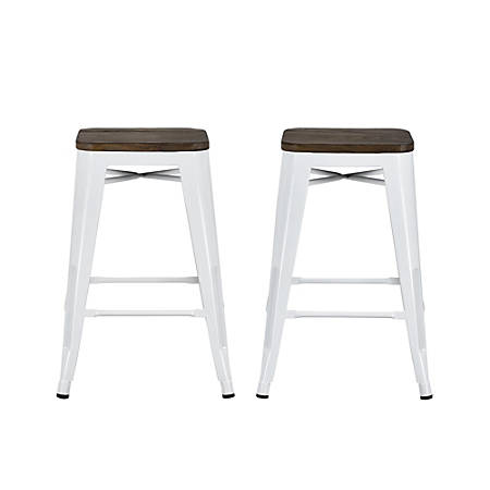 Stupendous Dhp Fusion Backless Counter Stool White Item 889646 Andrewgaddart Wooden Chair Designs For Living Room Andrewgaddartcom