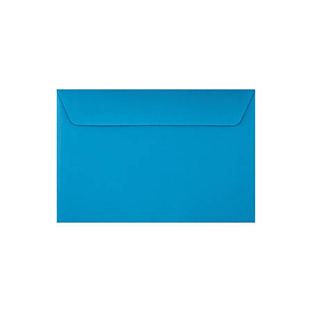 """LUX Booklet Envelopes With Moisture Closure, #6 1/2, 6"""" x 9"""", Pool, Pack Of 50"""