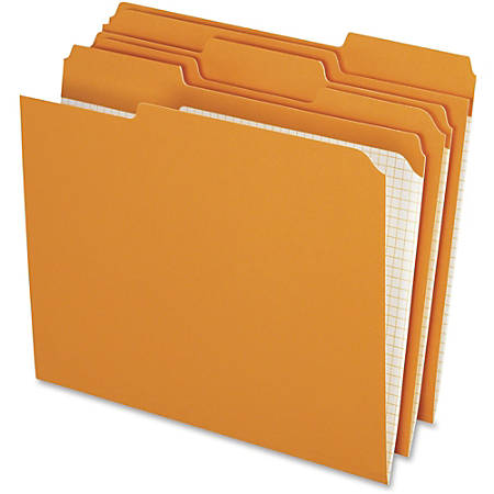 Pendaflex® Reinforced 1/3-Cut Top-Tab Colored File Folders, Letter Size, Orange, Box of 100 Folders