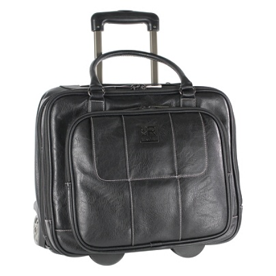 Kenneth Cole Reaction Vinyl Wheeled Overnighter For Laptops Up To 16 Blackcharcoal By Office Depot Officemax