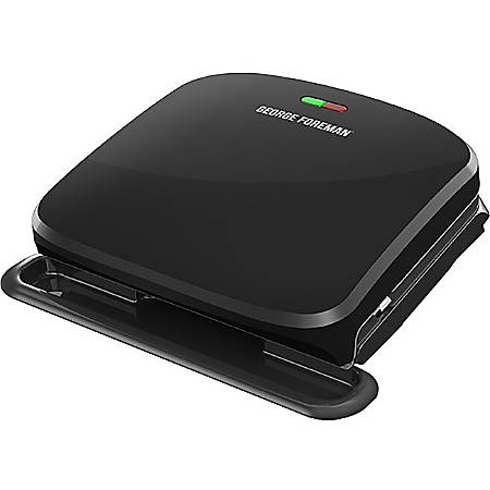 George Foreman 4-Serving Removable Plate & Panini Grill - Black