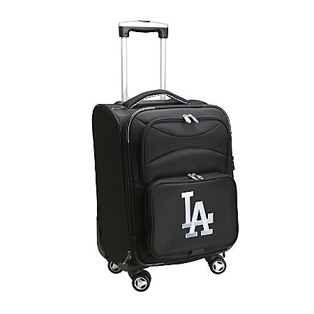 "Denco ABS Upright Rolling Carry-On Luggage, 21""H x 13""W x 9""D, Los Angeles Dodgers, Black"