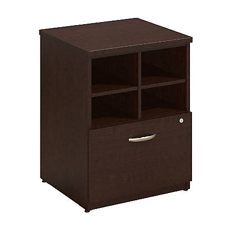 "Bush Business Furniture Components Elite Storage Cabinet, 24""W, Mocha Cherry, Standard Delivery"