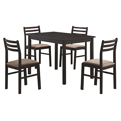 Monarch Specialties Alice Dining Table With 4 Chairs Cappuccino Item 8899581