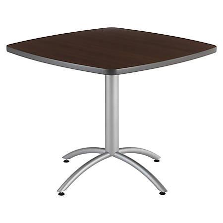 "Iceberg CafeWorks Cafe Table, Square, 30""H x 36""W, Walnut"