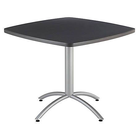 "Iceberg CafeWorks Cafe Table, Square, 30""H x 36""W, Graphite"