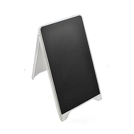 """Azar Displays Sidewalk A-Board, Plastic, 34 11/16"""" x 19 3/4"""", Black/White"""