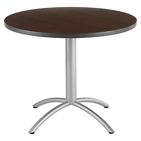 "Iceberg CafeWorks Cafe Table, Round, 30""H x 36""W, Walnut"