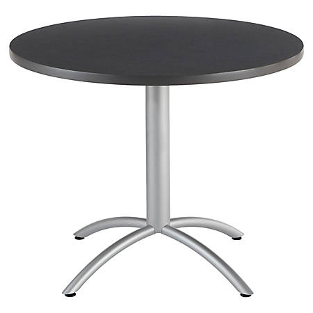 """Iceberg CafeWorks Cafe Table, Round, 30"""" x 36""""W, Graphite"""