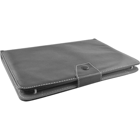 """Ematic Carrying Case (Folio) for 10"""" Samsung, Google Galaxy Tab, Nexus 10 Tablet - Black - Bump Resistant - Leatherette Cover"""