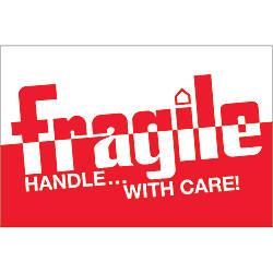 Tape Logic Preprinted Labels DL1054 Fragile