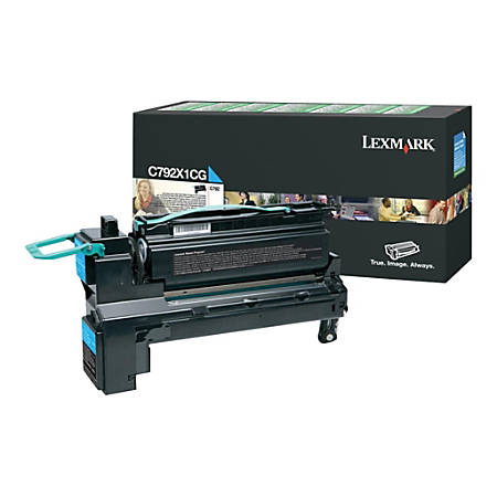 Lexmark™ C792X1CG Return Program Extra-High-Yield Cyan Toner Cartridge