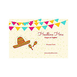 Plastic Sign Horizontal Mexican Hat