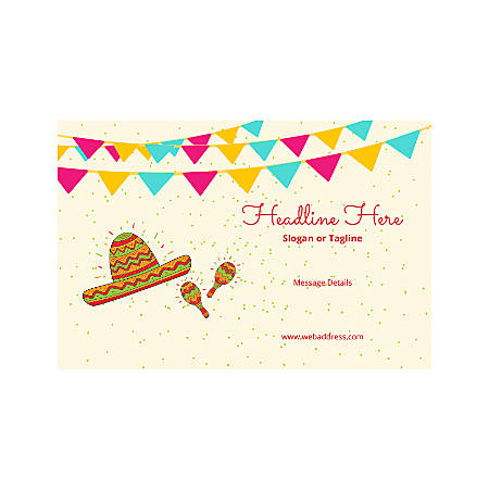 Plastic Sign, Horizontal, Mexican Hat