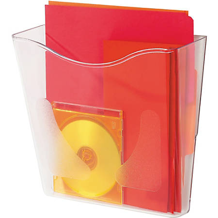 deflecto Euro-Style DocuPocket Portrait Wall File, 10 1/4 x 10 x 4, Clear
