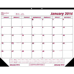 Brownline Monthly Desk Pad Calendar 22 X 17 January