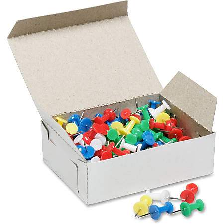SKILCRAFT® Color Pushpins, Assorted Colors, Box Of 100 (AbilityOne 7510-01-207-3978)