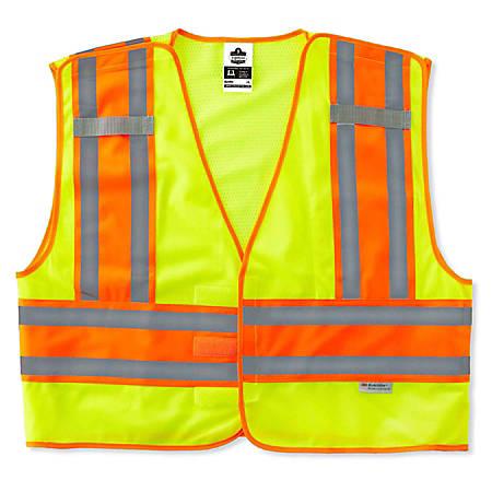 Ergodyne GloWear Safety Vest, Public, Type-P Class 2, XX-Large/3X, Lime, 8245PSV
