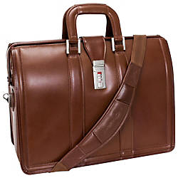 McKleinUSA 17 Leather Litigator Laptop Briefcase