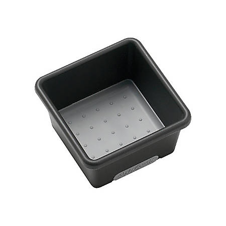 "Senario Made Smart Extra Small Storage Bin, 3"" x 3"" x 2"", Black/Gray"