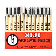 Yasutomo Niji Woodcarving Tools Set Of