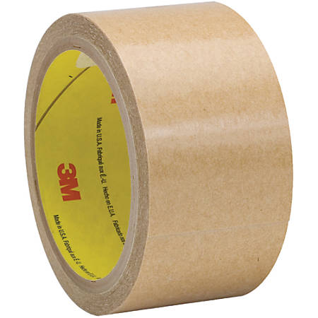 "3M™ 927 Adhesive Transfer Tape Hand Rolls, 3"" Core, 2"" x 60 Yd., Clear, Case Of 6"