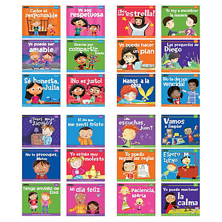 Newmark Learning MySELF Spanish Readers Set, Set Of 24 Books