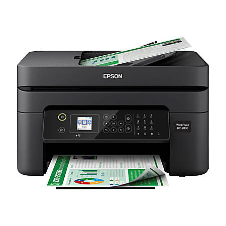 Epson® WorkForce® WF-2830 Wireless Color Inkjet All-In-One Printer, Copier, Scanner, Fax, C11CG30201